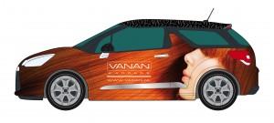 Vanan Citroën DS3 belettering1